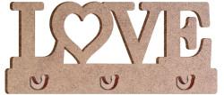 - KD34 Love Anahtarlık Askılık Ahşap Obje