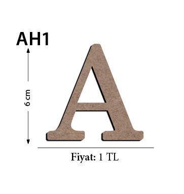 - Ah1 Ahşap 6Cm A Harfi