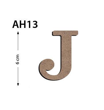 - Ah13 Ahşap 6 Cm J Harfi