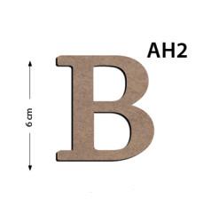 - Ah2 Ahşap 6Cm B Harfi