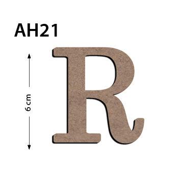 - Ah21 Ahşap 6 Cm R Harfi