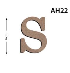 - Ah22 Ahşap 6Cm S Harfi
