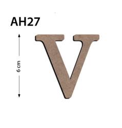 - Ah27 Ahşap 6Cm V Harfi