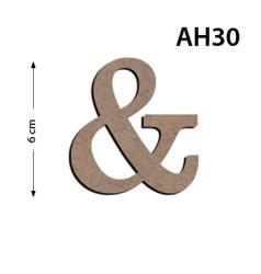 - Ah30 Ahşap 6Cm & Harfi