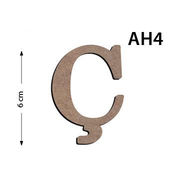 Ah4 Ahsap 6cm C Harfi