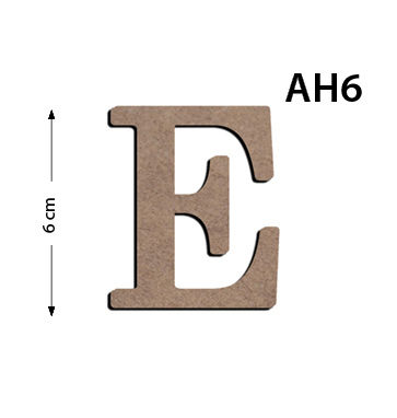 Ah6 Ahşap 6cm E Harfi