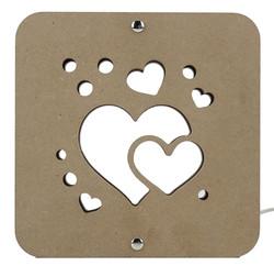 AÜ5 Kalp Motifli Gece Lambası - Thumbnail