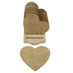 B12 Kalpli Bardak Altı Set Ahşap Obje - Thumbnail