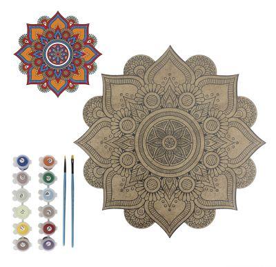 - BSM1 Boyalı Sayılı Mandala 12'li Boyama Seti