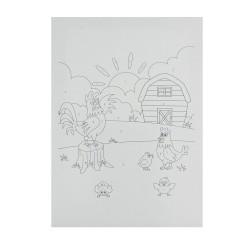 BTS6 Boyama Tuval Sayılı Set 25x35 Horoz Çiftlik - Thumbnail