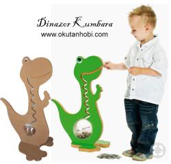 - ÇG20 Ahşap Dinozor Kumbara 70 cm