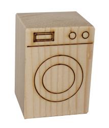 - ÇG23 Ağaç Minyatür Çamaşır Makinası