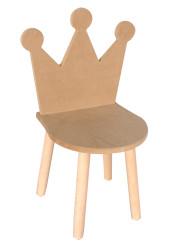- ÇG29 Ahşap Çocuk Sandalyesi Taçlı