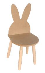 - ÇG30 Ahşap Çocuk Sandalyesi Kulaklı