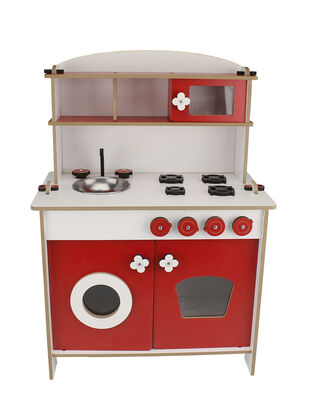 - ÇG35 Küçük Çocuk Oyun Mutfağı Kırımızı