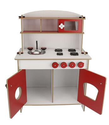 ÇG35 Küçük Çocuk Oyun Mutfağı Kırımızı