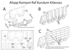 ÇG38 Ahşap Kamyon Raf - Thumbnail