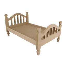 ÇG47 Ahşap Oyuncak Bebek Yatağı 50 cm - Thumbnail