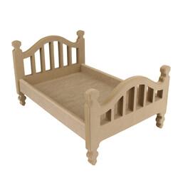 - ÇG48 Ahşap Oyuncak Bebek Yatağı 35 cm