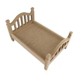 ÇG48 Ahşap Oyuncak Bebek Yatağı 35 cm - Thumbnail