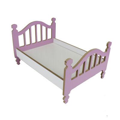 - ÇG49 Ahşap Renkli Oyuncak Bebek Yatağı 35 cm