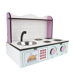 - ÇG60 Ahşap Masaüstü Çocuk Mutfağı
