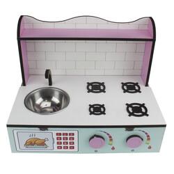 ÇG60 Ahşap Masaüstü Çocuk Mutfağı - Thumbnail