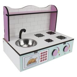 ÇG61 Ahşap Masaüstü Çocuk Mutfağı Eşyalı - Thumbnail