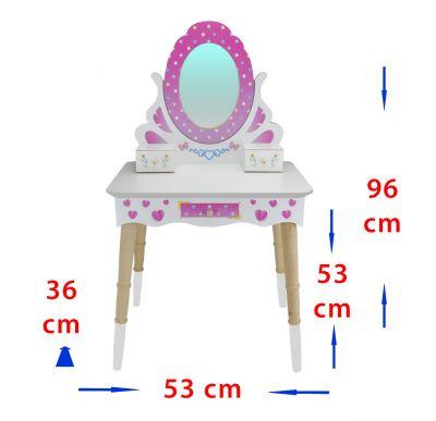 ÇG65 Ahşap Çocuk Makyaj Masası