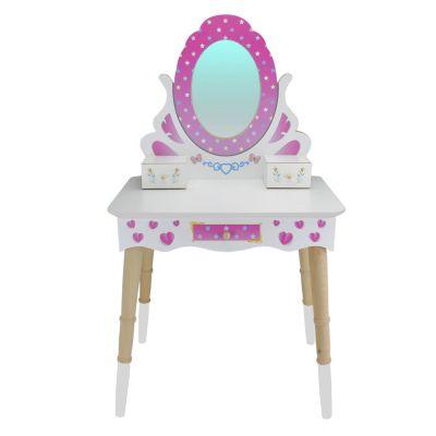 - ÇG65 Ahşap Çocuk Makyaj Masası
