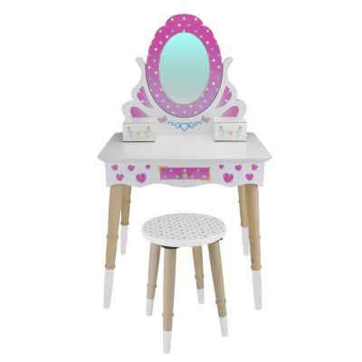 - ÇG68 Ahşap Çocuk Makyaj Masası Seti