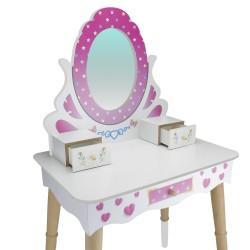 ÇG68 Ahşap Çocuk Makyaj Masası Seti - Thumbnail