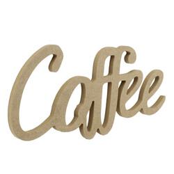 - D50 Ahşap Coffee Yazısı