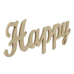 - D52 Ahşap Happy Yazısı