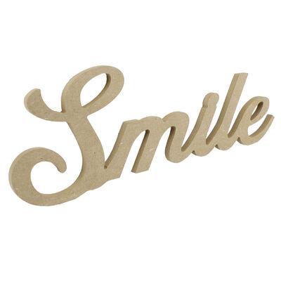 - D53 Ahşap Smile Yazısı