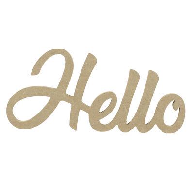 D54 Ahşap Hello Yazısı