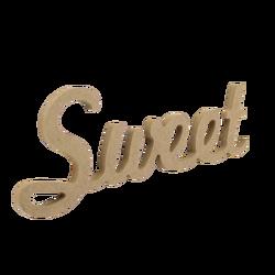 - D57 Ahşap Sweet Yazısı