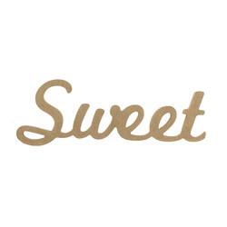 D57 Ahşap Sweet Yazısı - Thumbnail