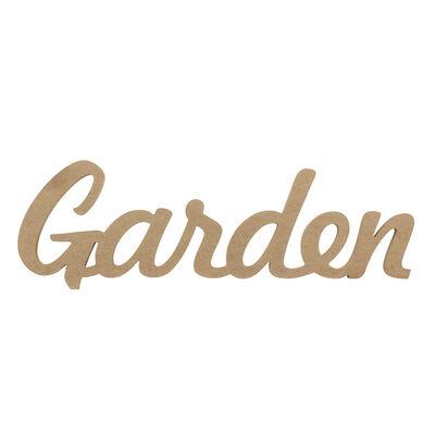 D58 Ahşap Garden Yazısı