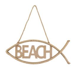 D59 Beach Yazı Hasır İpli - Thumbnail