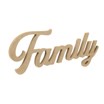 - D60 Ahşap Family Yazısı
