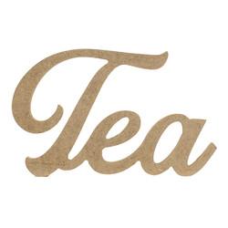 D63 Ahşap Tea Yazısı - Thumbnail