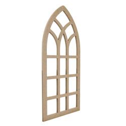 D66 Ahşap Pencere Duvar Süsü Küçük - Thumbnail