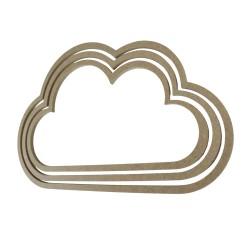 D72 Bulut Makrome Halkası 3'lü - Thumbnail