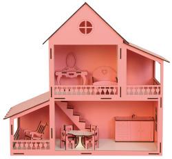 - EV11 Pembe Barbie Ev 45 cm Eşyalı