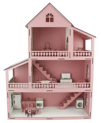 EV14 Pembe Barbie Ev 80 cm Eşyalı