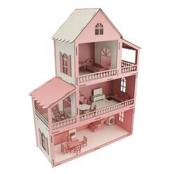 EV14 Pembe Barbie Ev 80 cm Eşyalı - Thumbnail