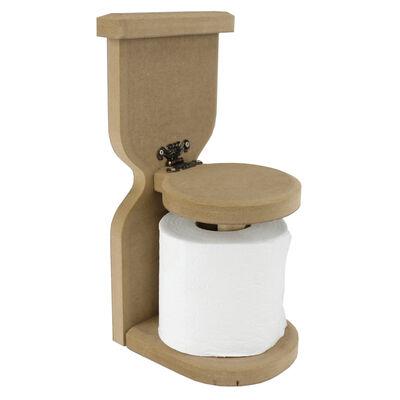 - H8 WC Ahşap Tuvalet Kağıtlığı