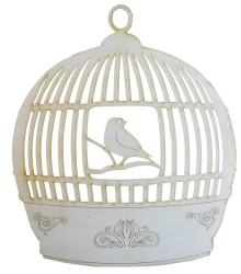 - KD47 Kafes Tombul Kuşlu Kapı Süsü Ahşap Obje