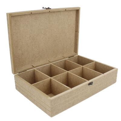 - KU30 Ahşap Çay kutusu Sekiz Gözlü
